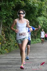 Jennifer at the Longboat Island 10k 2015