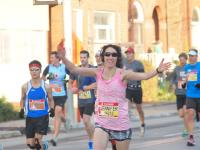 Here I am at the Scotiabank Waterfront Half Marathon  two years ago, running by my husband and kids!