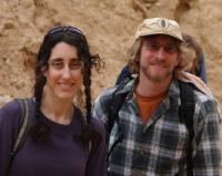 Hiking in the desert in Israel
