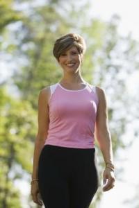 Happy healthy active woman
